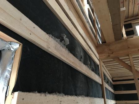 Пример утепленной стены каркасного дома