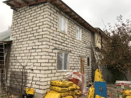 Утеплние стыков 2-х домов Эковатой