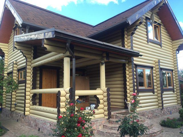 Теплый дом из бревна